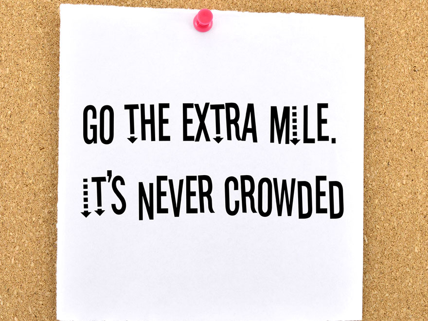 """What it means to go the """"Extra Mile"""""""